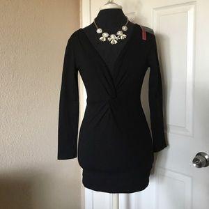 June & Hudson mini black dress NWT. Sz.S $25